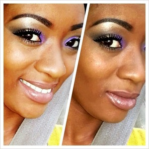 """A fun smoky eye with a nice dose of purple :) Also used a pigment from Spectrum Cosmetics called """"Pow, I'm so Pretty"""""""