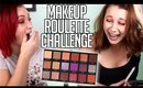 Using ALL the Shades in the Huda Beauty Dessert Dusk Palette | MAKEUP ROULETTE CHALLENGE