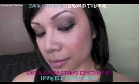 Back to School :: Easy and Quick Smokey Eye Tutorial with ELF Beauty Book