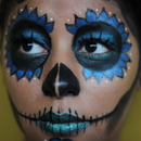 Sugar Skull Simple Blue 1