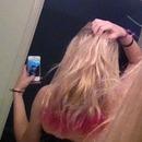 pink dip dye!