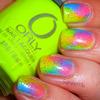 Neon Sponged Mani