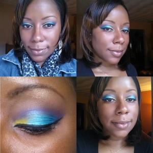 multi-color eyeshadow