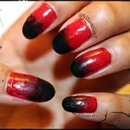 Grungy red and black gradient 2
