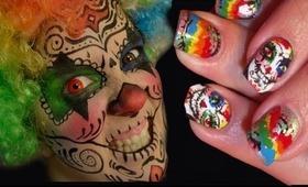 SugarSkull Clown. Collab with robinmosesnailart