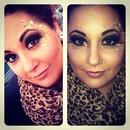 Gold leaf makeup.