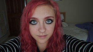 Flashback to my pinky red hair and tons of acne! I am wearing a smoky eye here.