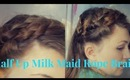 Easy Half Up Three Strand/Rope Braided Boho Hairstyle