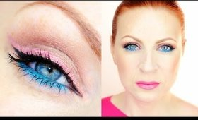 Bright Summer Makeup (Create a Customized Colored Eyeliner)