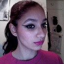 New years eve makeup tutorial- double winged liner w.fuschia lips ;)