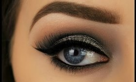 Metallic Grey Smokey Eye | Night Out Makeup
