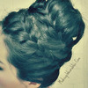 How to: Never-Ending, French Braid Sock Bun on Your Own Hair