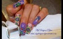 Summer Nail Art With Dotting Tool, Purple, Dots, Colors of the Rainbow Tag  - ♥ MyDesigns4You ♥
