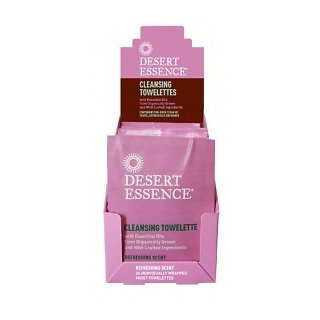 Desert Essence Cleansing Towelettes - Display/24