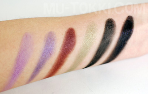 second six swatches | http://bit.ly/gGSWZM