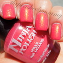 Ninja Polish Pacific Coral (over Orly Cotton Candy).