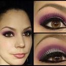 Purple And Silver Makeup Look