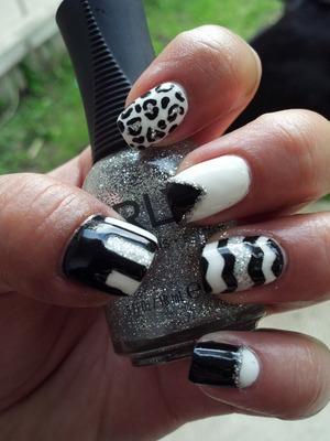 Black, White & Glitter