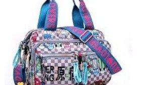 Maket Women Large Hobo Handbags Nylon Harajuku Multiple Pockets