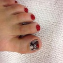 Rudolph toe nails