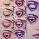 Heart makeup pictorial