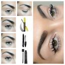 Layers of mascara