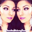 Purple lips and eyes