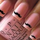 O.P.I. Light pink mustache