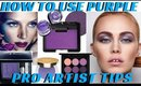 How to Use Purple Eyeshadow to Create a Sophisticated Eye | Pro Artist Tips- mathias4makeup