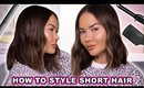 HOW TO STYLE SHORT HAIR - EASY   Maryam Maquillage