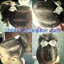 Child's fun glitter updo