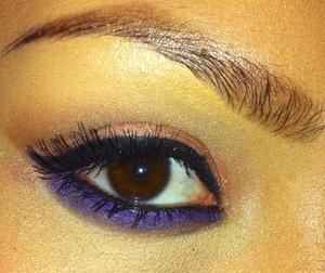 Easy look today using purple liner.