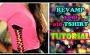 DIY:- Revamp your old Tshirt!! Easy and Cute :)