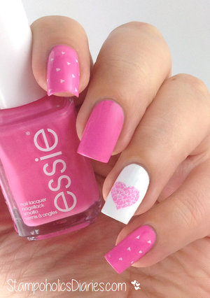 http://stampoholicsdiaries.com/2015/02/04/pre-valentines-day-nails-with-essie-and-bundle-monster/