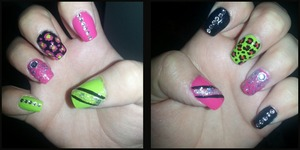 My perfectly imperfect nails :)) <3