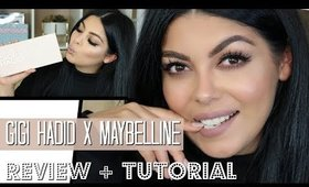 GIGI HADID x MAYBELLINE NY JET SETTER PALETTE REVIEW SWATCHES TUTORIAL