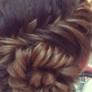 braided twist bun
