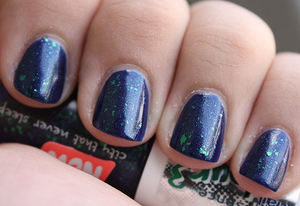 Layered over Essence Midnight Date.  http://iloveprettycolours.blogspot.com/2012/04/essence-colour3-midnight-date.html