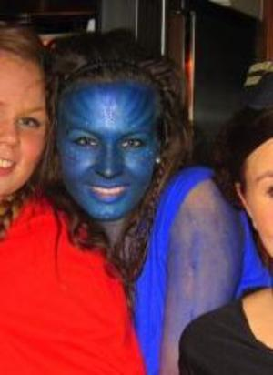This photo is no good but anyways.. Me as Avatar at another costume-party :)