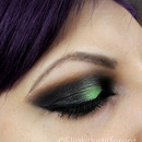 Black and Green Smokey Eye