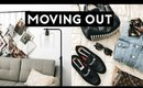 I'M MOVING! EXTREME CLOSET DECLUTTER! MOVING VLOG | Nastazsa