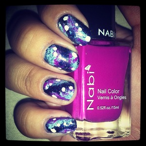 finally did galaxy nails and im pretty stoked about them!! :)