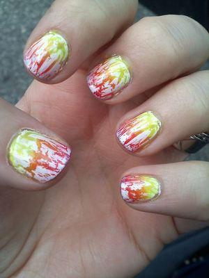 Summer vacation manicure.