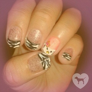 Zebra tip....with hello kitty.