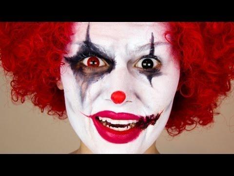 Halloween Makeup Clown Easy.Scary Clown Halloween Makeup Emma Pickles Video Beautylish