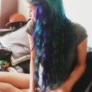 Blue Turquoise Purple Green Hair