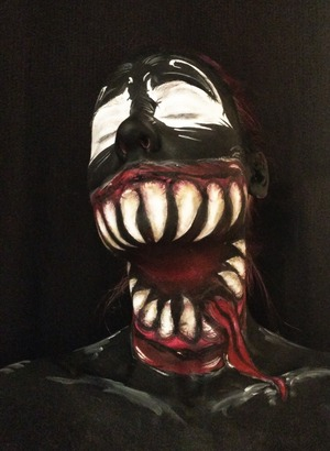 Face paints used to create a take on Venom