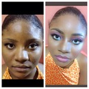 I beat her face...