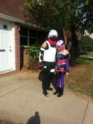 my bf as kakashi from naruto, me as ayane from dead or alive/ninja gaiden