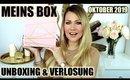 88€ Wert? Meins Box Oktober/ November 2019 | UNBOXING & VERLOSUNG
